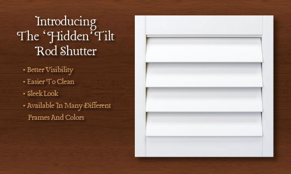 hidden tilt rod shutters