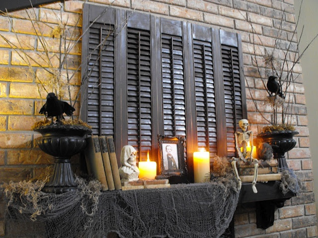 shutters for Halloween decorations